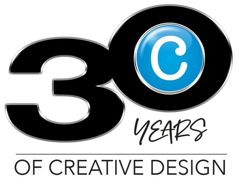 Image that says '30 Years OF CREATIVE DESIGN'
